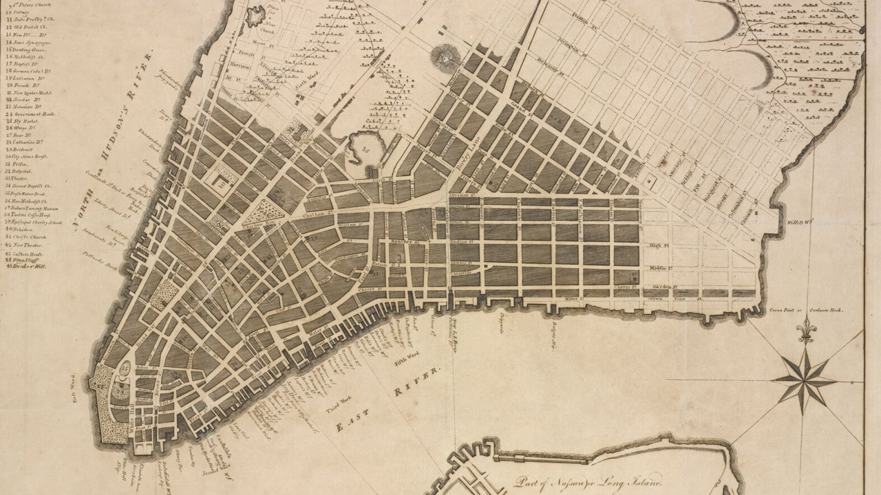 D. Longworth Map of Lower Manhattan