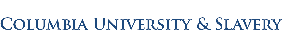 Columbia University and Slavery logo