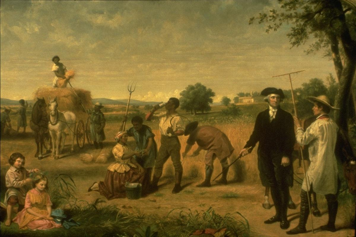 "Junius B. Stearns, ""George Washington as a Farmer,"" 1851."