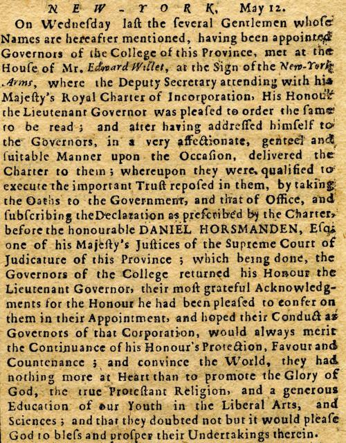 New-York Gazette, 1755