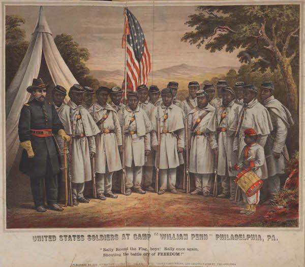 US Soldiers at Camp William Penn